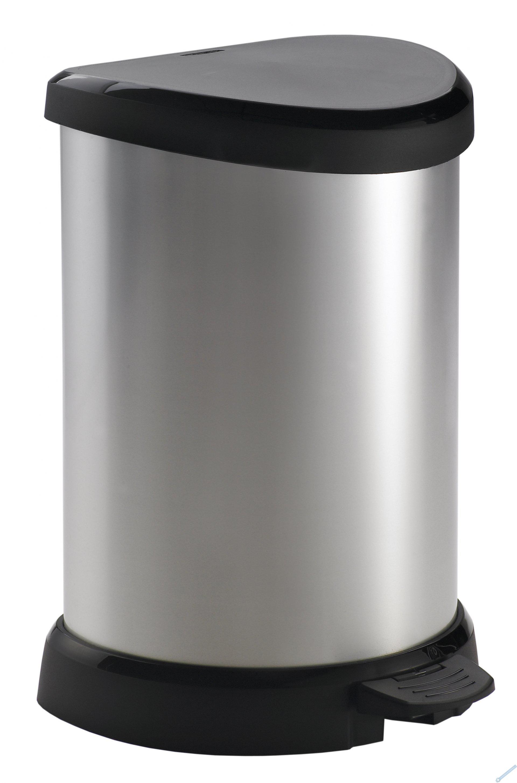 Odpadkový koš DECO BIN 20l střibrný