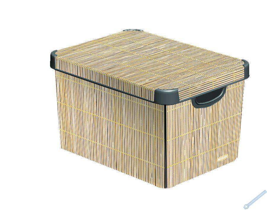 Úložný box L bambus