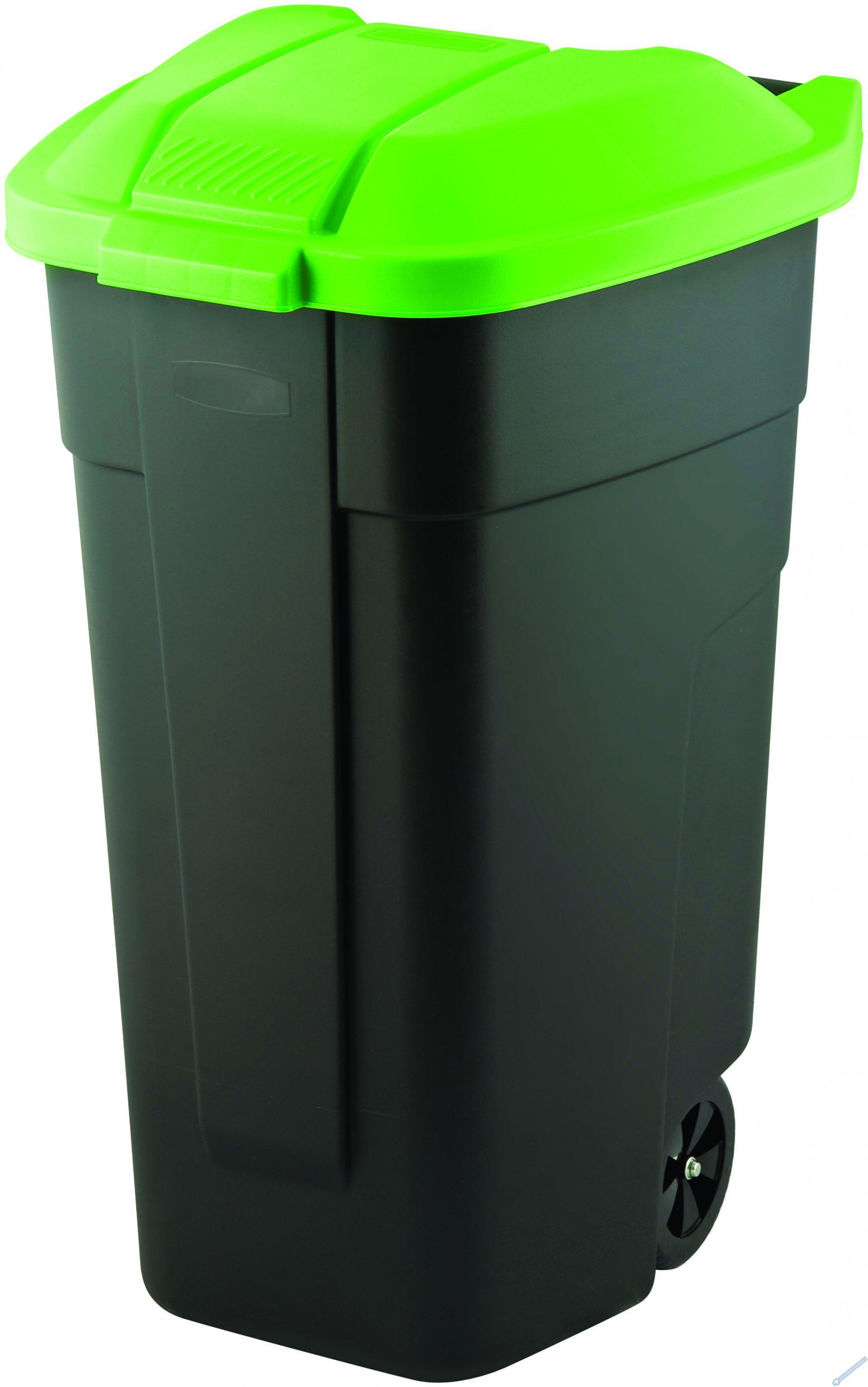 Popelnice 110l černá/zelená
