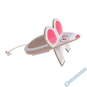 Škrabadlo pro kočky Myš 45x29x29cm