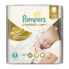 PAMPERS Premium Care 1 Newborn 88ks + PAMPERS Wipes Sensitive Single 56ks zdarma