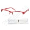 Brýle čtecí +3. 50 UV400 červeno-černé s pouzdrem