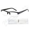 Brýle čtecí +1. 50 UV400 černé s pruhy a pouzdrem
