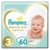 PAMPERS Premium Care Midi 4-9kg 60ks + PAMPERS Wipes Sensitive Single 56ks zdarma