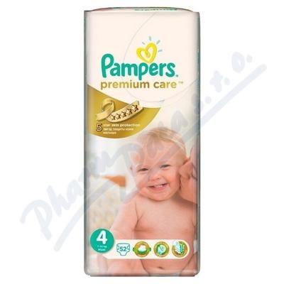PAMPERS Premium Care 4 Maxi 52ks + PAMPERS Wipes Sensitive Single 56ks zdarma