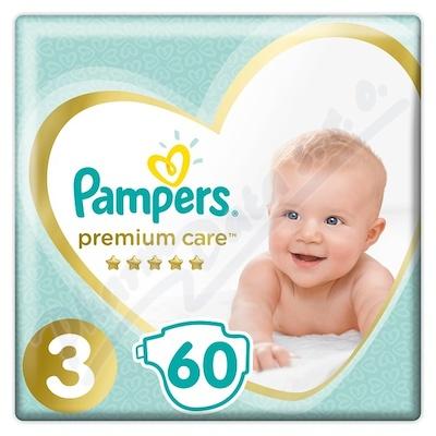 PAMPERS Premium Care Midi 4-9kg 60ks + PAMPERS Wipes Sensitive Single 56ks zdarma